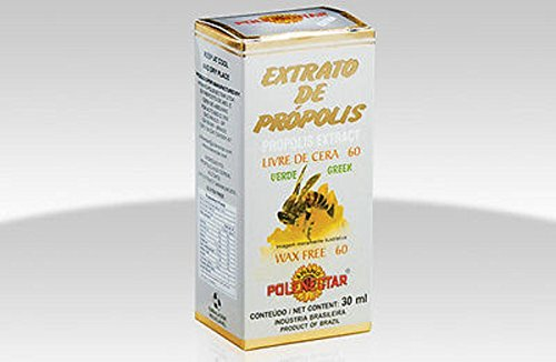Case Of 24 Units Polenectar Brazil Premium Bee Green Propolis Extract WF60 Wax Free 60 30 ml By JLBrazil by Polenectar
