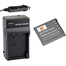DSTE NP-60 Battery + DC75 Travel and Car Charger Adapter for Casio Exilim EX-FS10 EX-S10 EX-S12 EX-Z9 EX-Z19 EX-Z20 EX-Z21 EX-Z25 EX-Z29 EX-Z80 EX-Z85 EX-Z90 Digital Cameras