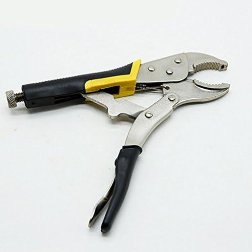ロックプライヤー バイス クランプ レンチ 炭素鋼 修理 調整可能 - 銀