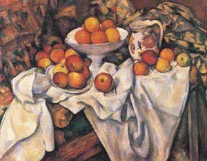 Apples Oranges Cezanne And - Apples and Oranges (Paul Cezanne) - Masterpiece Jigsaw Puzzle 500pc