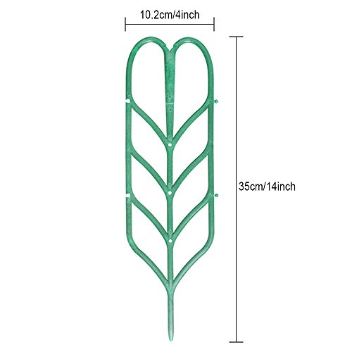 Aniann Garden Trellis for Mini Climbing Plants, Leaf Shape Potted Plant Support Vines Vegetables Vining Flowers Patio Climbing Trellises for Ivy Roses Cucumbers Clematis Pots Supports (6 Pack) by Aniann (Image #3)