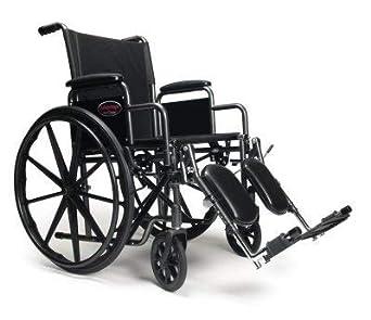Amazon.com: E & J ventaja silla de ruedas, Negro, 1 ...