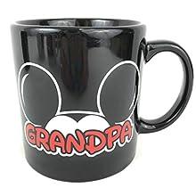 Disney Family Fan Mickey and Minnie Mouse Jumbo 20 Ounce Coffee Mug (Grandpa)