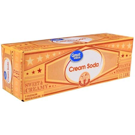 Cream Soda, 144 fl oz, 12 Pack, Exceptional Taste of this Delicious Full-Flavored