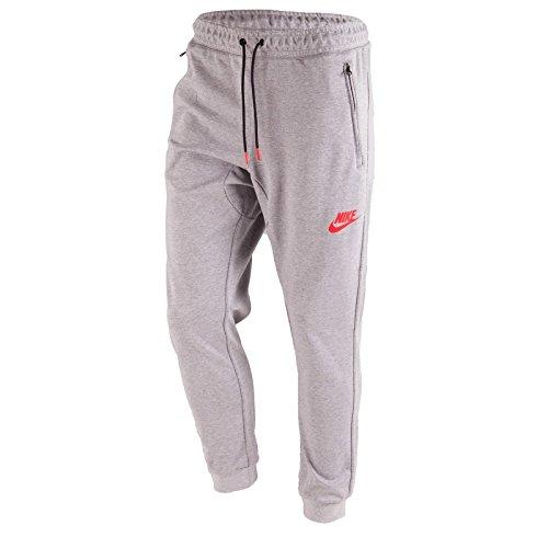 Men's Nike Sportswear AV15 Jogger Pant Dark Grey Heather/University Red Size XX-Large