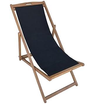 Klappliegestuhl  Amazon.de: TrendLine Liegestuhl schwarz Strandstuhl Strandliege ...