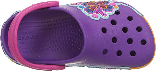 Crocs Unisex-Baby Crocband Fun Lab Butterfly Graphic Clog, Amethyst/Purple, 5 M US Toddler by Crocs (Image #1)