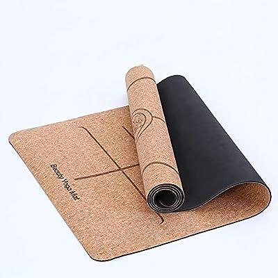 FGKING Natural Corcho Yoga Mat, raíces Yoga Mat con Fondo de ...