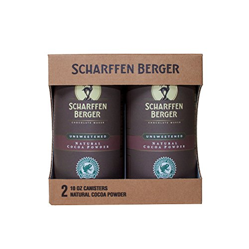 SCHARFFEN BERGER Unsweetened Natural Cocoa Powder, 10 Ounce (Pack of 2)