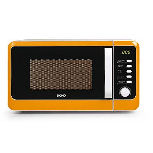 Mikrowellen - Microondas con función grill (1000 W, capacidad de 20 L, función rápida, con plato giratorio), color naranja