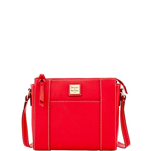 Dooney & Bourke Saffiano Leather Lexington Crossbody Bag Purse Handbag (Red) (Dooney Bourke Lexington)