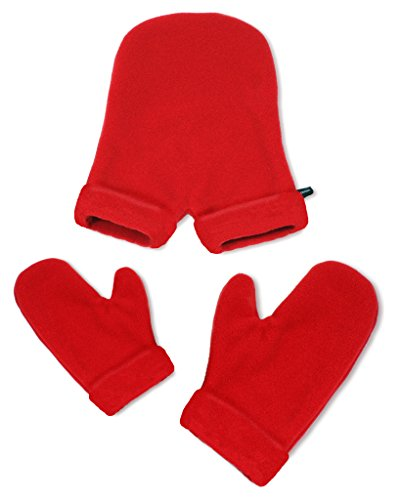 Smittens - Hand Holding Mittens for Friends & Lovers - Red Cuff Style