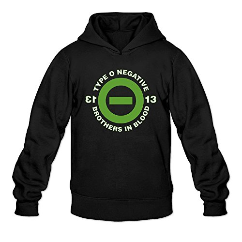 HEDONE Men's Type O Negative Brothers In Blood Hoodie Black L