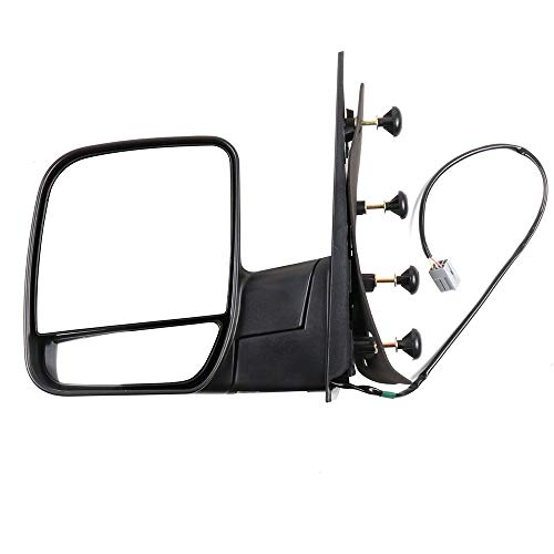 ECCPP Driver Side Mirrors, Left Rear View Mirrors fit 2003-2013 Ford E-150 E-250 2004-2013 Ford E-350 E-450 Super Duty E-450 Power Heated Manual ()