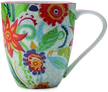 CHRISTOPHER VINE - Taza (Porcelana, 500 ml), Color Rojo: Amazon.es ...