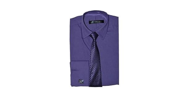 Fácil Poshtotz lila de camisa, corbata y gemelos de 1 hasta 15 ...
