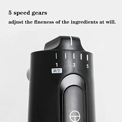 XLOO Mixeur Plongeant,5 Vitesses,4 en 1 Comprend Un Hachoir Amovible,Un Fouet À Œufs,Utilisé dans Les Aliments pour Bébés en Purée,Les Smoothies,Les Sauces et Les Soupes