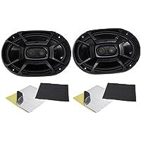 (2) Polk Audio DB692 6X9 450 Watt Car ATV/Motorcycle/Boat Speakers + Rockmat