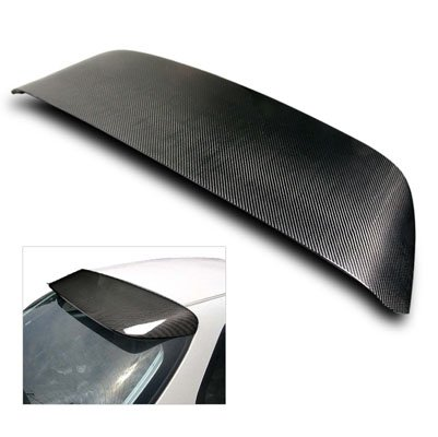 Honda Civic 3dr Spoon - 96-00 Honda Civic 3DR Hatchback EK Carbon Fiber Spoon Sport Spoiler