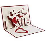Weiy Greeting Card Creative Wedding Hollow 3D Cards for Engagement Valentine's Day Wedding Anniversary Invitation