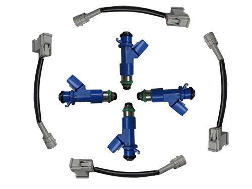 4x Get 410cc Injector Kit for Honda Civic Integra RSX K20 K24 Acura RDX 16450-RWC-A01 16450RWCA01 - Acura Integra Turbo Kits