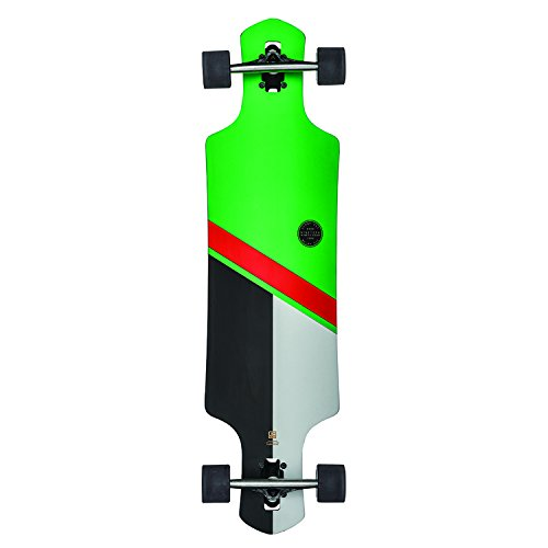 GLOBE Skateboards Geminon Longboard Complete Skateboard, Green/Red, 38.5