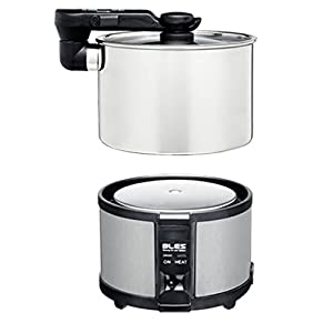BLES MC450 Fast Boiling Portable Stainless Steel Electric Hot Pot Multi Cooker for Travel, Lightweight, 34oz Capacity, Switchable Dual Voltage, Multi Voltage Travel Adapter Included