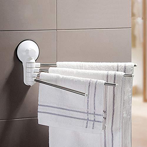 Agordo Towel Holder 4 Swivel Bars Stainless Steel Bath Rack Rail Hangers Bathroom Shelf