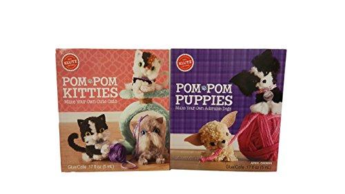 Klutz-Pom Pom Puppies and Pom-Pom Kitties Craft Kits Set]()