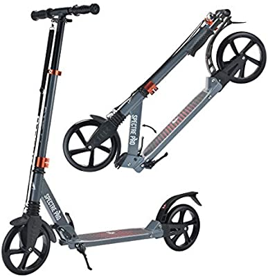 Apollo XXL Wheel Scooter 200 mm - Spectre Pro es un City Scooter suspensión Doble, City Roller XXL Plegable y Ajustable en Altura, Grande Kick+B3 ...