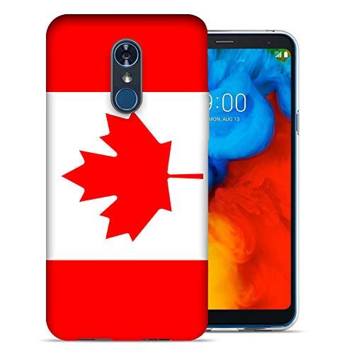 MUNDAZE for LG Stylo 4 / Stylo 4 Plus UV Printed Design Case - Canada Flag Design Phone Cover