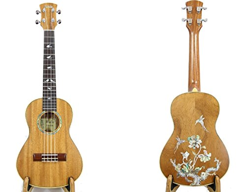 oa Tenor Ukulele with Hummingbird MOP&Abalone Inlaid pattern, Satin polished. UKT (Inlaid Mop)