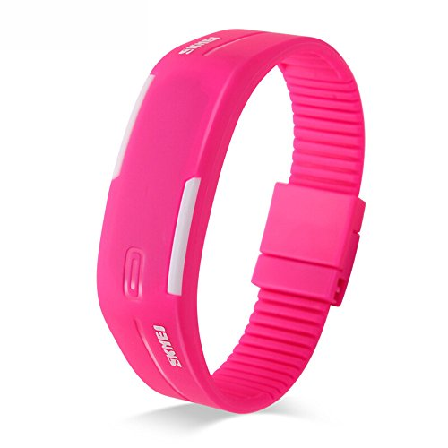 SKMEI 30M Waterproof Blue Light LED Watch (Red) - 3
