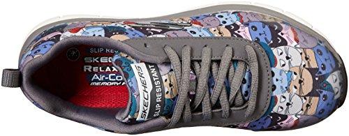 Talla Skechers De Mujeres Moda Flex Multicolor Carbón Deportivos Comfort fYzqwfO