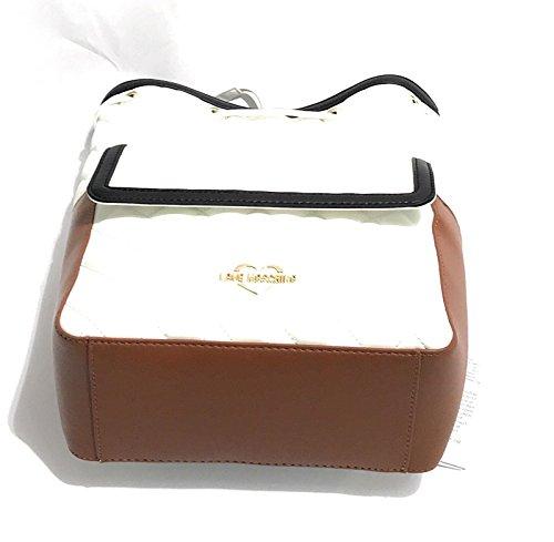 Sac pour Moschino femme porté BIANCO NERO au dos à CUOIO Medium main d0qfwYOq