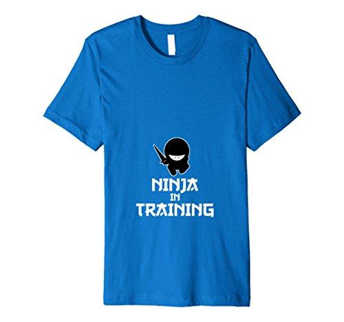 Mens Funny Pregnancy Costume Halloween Mom Baby Ninja T-Shirt Small Royal Blue