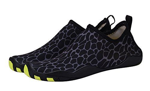 DEMANGO Yoga Schuhe Barfuß Quick-Dry Wassersport Aqua Schuhe Schwimmen Walking Lake Beach Grau