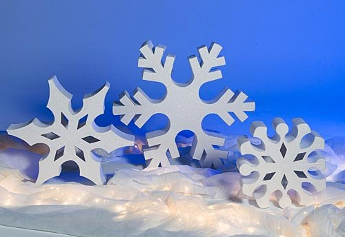 Standing Snowflake Props