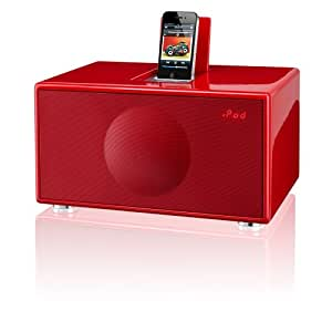 GenevaSound M All-in-One Stereo for iPod, iPhone, Radio, Line-in - Medium (Red)