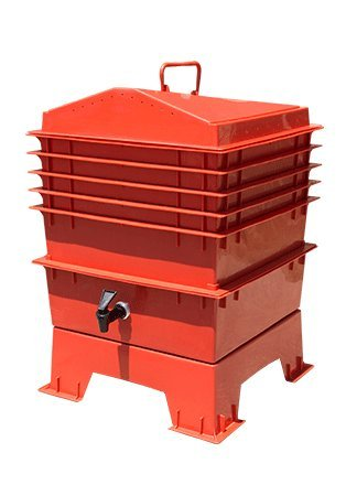 Homestead Essentials 5-Tray Worm Composting Kit - 4cu.ft - 5L/1.3Gal - Terra - Terra Design Cotta Worm