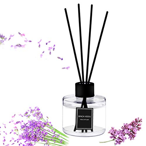 binca vidou Reed Diffuser Set Lavender Reed Oil Diffusers for