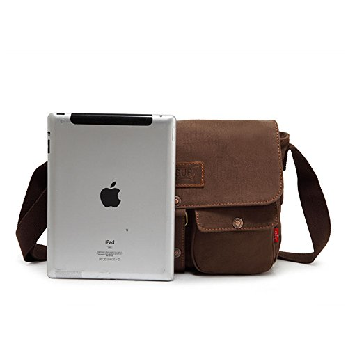 Messenger Simple Shopping Color Canvas Retro Bag Comfortable Shoulder Bag Briefcase Brown Zip xFRSFg