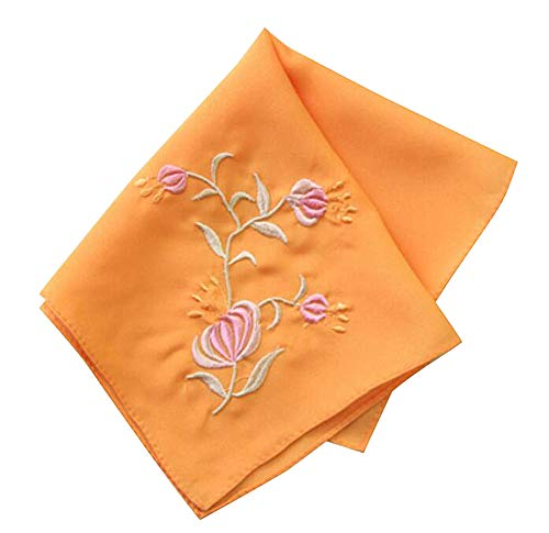 Chinese Embroidery Handkerchiefs (Set of 2 Chinese Style Ladies/Women's Embroidered Handkerchiefs, Pattern-4)