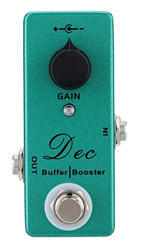 Mosky Mini Dec Buffer Booster Pedal Electric Guitar Effect with Clean Boost True Bypass