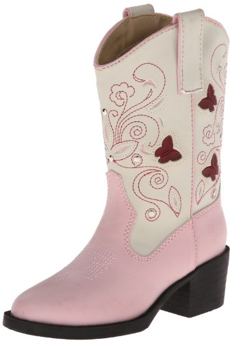 Roper Light Up Butterfly Western Boot (Toddler/Little Kid),Pink/White,12 M US Little Kid]()