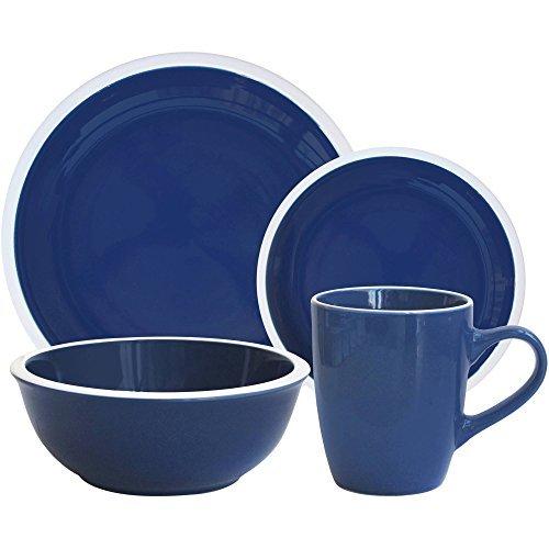 Mainstays 'Hadleigh' 16-Piece Stone Dinnerware Set, -