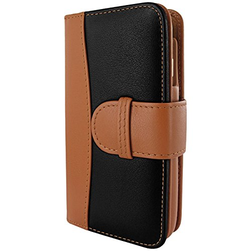 Piel Frama Wallet Case for Apple iPhone 6 - Black / Tan by Piel Frama