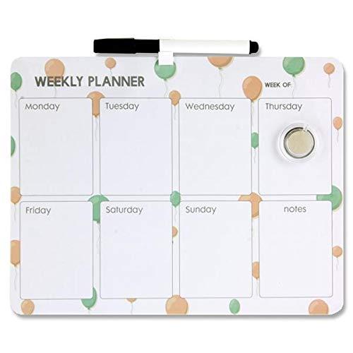 Premier Stationery Tama/ño 216 x 279 mm. Planificador semanal magn/ético para limpieza en seco Incluye marcador e im/án para limpiar en seco