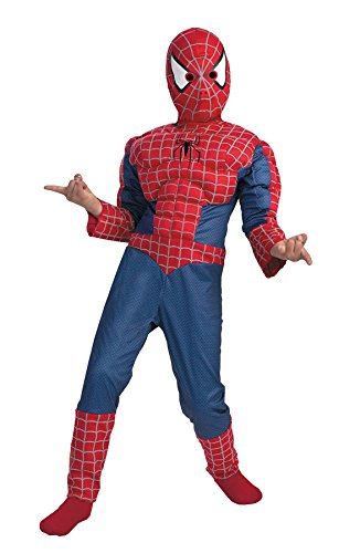 Spiderman Bodysuit Costume (Kids Spiderman Muscle Costume - Medium(7-10))