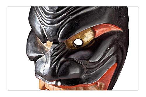 Tree26 Indoor Floor Rug/Mat (23.6 x 15.7 Inch) - Demon Mask Mask Japanese Demon Japan Antique